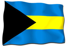 Bahamas Flag Stock Photo