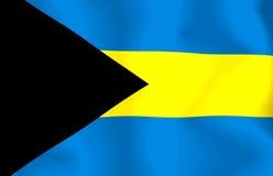 Bahamas Flag. Waving flag of the Bahamas vector illustration