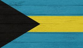 Free Bahamas Flag On A Wooden Texture. Stock Photo - 179995820