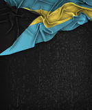 The Bahamas Flag Vintage on a Grunge Black Chalkboard With Space Stock Photos