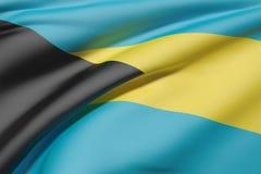 Bahamas flag waving Stock Photography