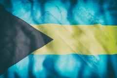 Bahamas flag waving Royalty Free Stock Photo