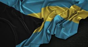 The Bahamas Flag Wrinkled On Dark Background 3D Render Royalty Free Stock Photos