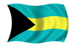bahamas flagga royaltyfri illustrationer
