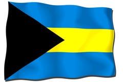 bahamas flagga Arkivfoto