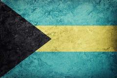 bahamas flaggagrunge Bahamas flagga med grungetextur Royaltyfri Foto