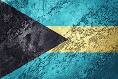 bahamas flaggagrunge Bahamas flagga med grungetextur Royaltyfria Foton
