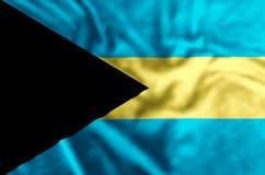 Bahamas-Flaggenillustration stock abbildung