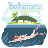 Bahamas flyer with a girl Stock Photography