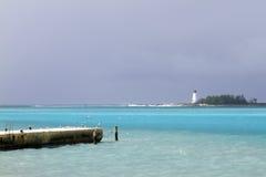 bahamas fyr royaltyfri foto