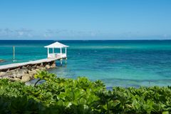 Bahamas Gazebo Royalty Free Stock Photo