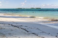 Bahamas, Cable Beach. Bahamas, the golden sands of Cable Beach royalty free stock images