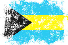 Bahamas grunge, old, scratched style flag Stock Photography