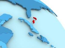 Bahamas on blue globe. Bahamas highlighted on blue 3D model of political globe. 3D illustration Royalty Free Stock Images