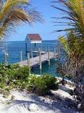 bahamas idyllisk pir Royaltyfri Fotografi