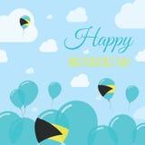 Bahamas Independence Day Flat Patriotic Design. Royalty Free Stock Image