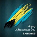 Bahamas Independence Day Patriotic Design. Stock Photo