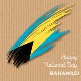 Bahamas Independence Day Patriotic Design. Royalty Free Stock Photos