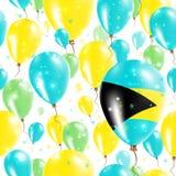Bahamas Independence Day Seamless Pattern. Royalty Free Stock Photos