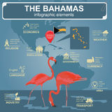 The Bahamas infographics, statistical data, sights Stock Photography
