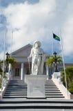 Bahamas ` Kolumb statua obrazy stock