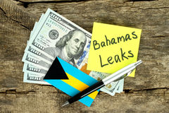 Bahamas Leaks scandal concept Stock Photo