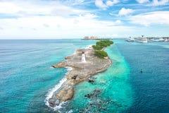 Bahamas Nassau Caribbean sea sky Beautiful nature landscape. Bahamas. Nassau. Caribbean sea. Turquoise water and blue sky. Beautiful nature landscape Stock Photos