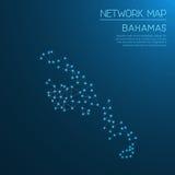 Bahamas network map. Royalty Free Stock Photos