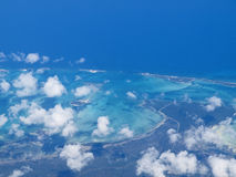 Bahamas, New Providence Island. Aerial view of New Providence Island, The Bahamas Stock Image