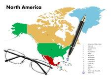Bahamas on north america map Stock Photography