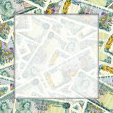 Bahamas one dollar bills frame Stock Images