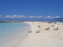 Bahamas-private Insel Stockbild