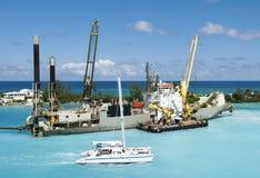 Bahamas Przemysłowy statek Fotografia Stock