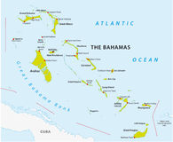 Bahamas road map Royalty Free Stock Images