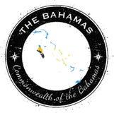 Bahamas runt patriotiskt emblem Arkivfoton