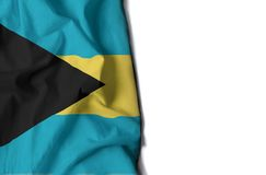 Bahamas rynkade flaggan, utrymme för text Arkivfoto