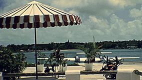 Bahamas seaplane airport. Nassau, Bahamas - Circa 1978: seaplane taking off from Nassau island in the sea. Historical Bahamas in 70s stock video footage