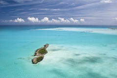 Bahamas from the Sky, Island Paradise Royalty Free Stock Photos