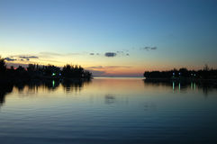 Bahamas sunset. Sunset over the water in bahamas stock photos