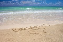 bahamas tropikalny plażowy Zdjęcia Royalty Free
