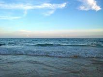 Bahamas At Twilight. The serene blue Carribean sea at twilight Stock Photos