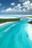 Bahamas vom Himmel, Insel-Paradies 3 Stockbilder