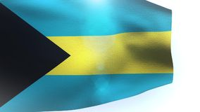 Bahamas waving flag in the wind wave. Video stock video footage