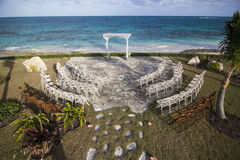 Bahamas wedding site, overhead view Royalty Free Stock Photography