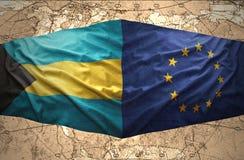 Bahamas y unión europea ilustración del vector