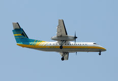 Bahamasair propeller airplane Royalty Free Stock Photos