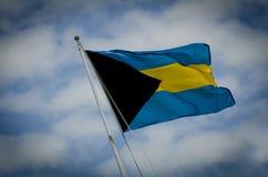 Bahamiaanse Vlag Stock Afbeeldingen