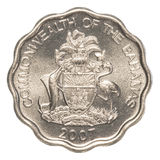 10 bahamian cent coin Stock Photos