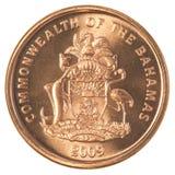 1 bahamian centu moneta Obraz Stock