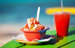 Bahamian conch salad Royalty Free Stock Images